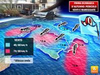 METEO: ecco quando finirà la prima BURRASCA d'Autunno, vento e mareggiate. Aree a rischio e durata