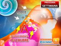 Meteo: PROSSIMA SETTIMANA, già da Lunedì ITALIA in SUBBUGLIO tra NUOVE ONDATE di CALORE e MINACCE TEMPORALESCHE