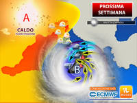 Meteo: PROSSIMA SETTIMANA estrema, Italia spaccata tra un Caldo fuori stagione e una Brutta Sorpresa. La Tendenza