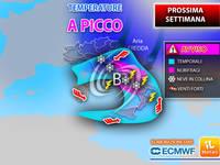 Meteo: PROSSIMA SETTIMANA, già Lunedì più FREDDO, poi parte l'INVERNO con TEMPERATURE a PICCO e NEVE in COLLINA