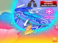 Meteo PROSSIMA SETTIMANA: dalle maniche corte ai maglioni, freddo e anche neve, ecco perché e dove [MAPPE]