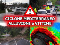 Meteo AVVISO SPECIALE di MALTEMPO, CICLONE TROPICALE Mediterraneo nelle PROSSIME ORE: Nuovo Severo Peggioramento