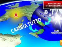 Meteo: CAMBIA TUTTO, vera STERZATA INVERNALE nelle PROSSIME 48 ORE. Freddo, vento e anche NEVE. Ecco DOVE