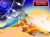 Meteo: da Giovedì Fronte Perturbato impatterà sull'Italia, tornano Piogge e Temporali. Previsioni fino a Venerdì
