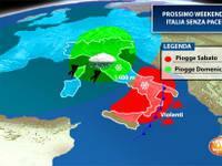 Meteo: WEEKEND Sabato 15/ Domenica 16, Italia senza PACE, staffetta di PERTURBAZIONI [TENDENZA]