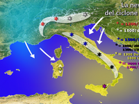 METEO / Neve a bassa quota col ciclone MEDEA, quote in Italia!