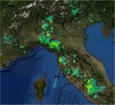 Meteo: il RADAR si accende, temporali a Milano e Roma, e in Toscana, peggiora su Pieonte,Liguria , Sardegna