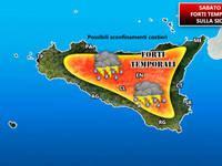 Meteo: AVVISO di temporali anche forti sulla Sicilia [MAPPE]
