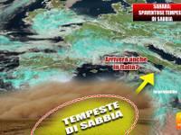 METEO: SPAVENTOSE TEMPESTE di SABBIA nel SAHARA dirette VERSO ITALIA