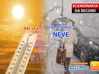 Meteo: CLIMA IMPAZZITO, dai 34°C al RISCHIO NEVE! Ecco cosa succede in SCANDINAVIA e le CONSEGUENZE in ITALIA