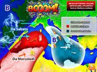Meteo: Ciclone, Anticiclone e Atlantico, la SETTIMANA sarà un ribaltone continuo