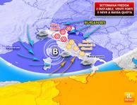 METEO: settimana di CICLONI FREDDI, maltempo e ancora NEVE, il Burian investe anche l'Italia