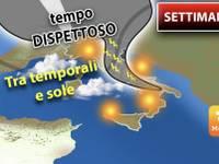 Meteo: da MERCOLEDI a VENERDI tempo DISPETTOSO, Italia tra TEMPORALI e SOLE. Ecco il DETTAGLIO
