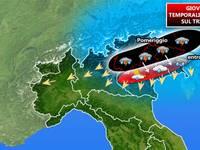 Meteo: Giovedì 26 sferzata temporalesca sul Triveneto, qui il dettaglio