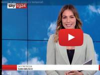 Meteo DIRETTA VIDEO SKY-Tg24: Sara Brusco, settimana molto instabile con temporali diffusi