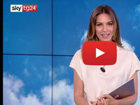 Meteo DIRETTA VIDEO SKY-Tg24: Sara Brusco, alta pressione, Caldo e Afa sull'Italia. Le PREVSIIONI