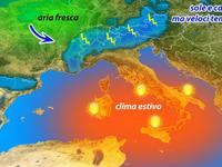 METEO, sole e caldo, oggi temporali veloci sui rilievi [VIDEO]