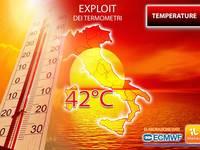 Meteo: TEMPERATURE, in arrivo CALDO INTENSO e AFA in aumento, picchi di 43°C! Ecco DOVE, QUANDO e QUANTO durerà
