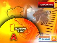 Meteo: TEMPERATURE, arriva una VERA ONDATA di CALORE, Escalation dei TERMOMETRI fino a 38°C! Le ZONE più roventi