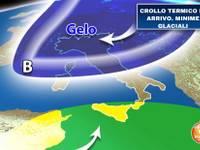 Meteo: TEMPERATURE in crollo termico VERTICALE. Minime GLACIALI sull'Italia, ecco dove