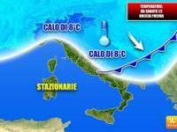 Meteo: ESTATE 2018 STREGATA nella FOLLIA delle TEMPERATURE da Sabato diventa AUTUNNO, giù di 8°C