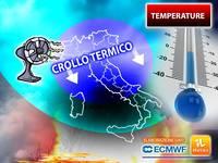 Meteo: TEMPERATURE KO! Da Lunedì Termometri al RIBASSO su tutta ITALIA. Situazione e TENDENZA PROSSIMI GIORNI