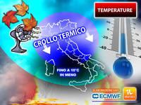 Meteo: TEMPERATURE in PICCHIATA, CROLLO di 10°C su alcune regioni. Ma Tornerà o no un po' di CALDO? La TENDENZA