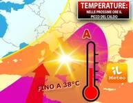 Meteo: TEMPERATURE, Picco del Caldo Africano a 38°C. Ecco Quando Finirà e Quanti gradi perderemo
