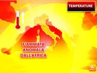 Meteo: TEMPERATURE, FIAMMATA Anomala dall'Africa con Picchi fino a 30°C. Ecco Dove e per Quanto Durerà