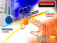 Meteo: TEMPERATURE STRAMBE, in arrivo uno spaventoso Sali Scendi da Vertigini. Situazione e Tendenza