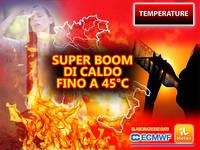 Meteo: TEMPERATURE sempre più ROVENTI, in arrivo un SUPER BOOM di CALDO fino a 45°C. Vi diciamo DOVE