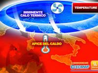 Meteo: TEMPERATURE, CALDO AFRICANO verso l'apice, ma è imminente un CALO TERMICO. I Dettagli