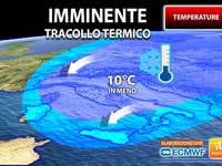 Meteo: TEMPERATURE, imminente TRACOLLO TERMICO, giù anche di 10°C. Ecco DOVE e QUANTO durerà