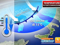 Meteo: TEMPERATURE, STOP al CALDO AFRICANO, BRUSCO calo dei TERMOMETRI. Ecco DOVE farà più FRESCO