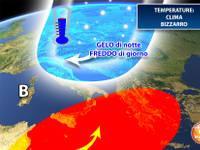 Meteo: TEMPERATURE, clima bizzarro, Italia divisa fra GELO INTENSO e TEPORE AUTUNNALE. I dettagli