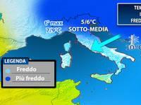 Meteo: in arrivo il FREDDO artico, le TEMPERATURE stanno per crollare. Ecco di quanto scenderanno