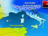Meteo: TEMPERATURE, nuova ONDATA di FREDDO pronta a colpire l'ITALIA. Ecco QUANDO e le REGIONI coinvolte