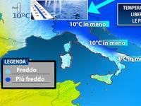 Meteo: TEMPERATURE in caduta libera, Italia ostaggio del freddo russo, con prime GELATE. Ecco dove