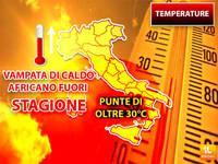 Meteo: TEMPERATURE, VAMPATA di Caldo Africano Fuori Stagione, Punte oltre i 30°C. Ecco Dove e Quanto durerà