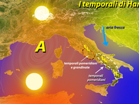 METEO » Hannibal porta il sole, il caldo, ma anche temporali [VIDEO]