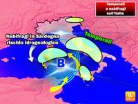 Meteo PROSSIME ORE: vortice sul Tirreno, MALTEMPO con NUBIFRAGI, ecco dove