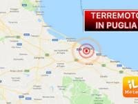 TERREMOTO: TREMA la PUGLIA, forte SCOSSA di 4.2 Richter tra Bari e Barletta