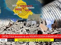 CENTRO ITALIA devastato da una VIOLENTA SCOSSA di MAGNITUDO 6.0° Richter, 291 VITTIME. Aggiornamenti METEO [VIDEO]