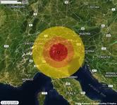 TERREMOTO nella zona di Trento (TN) con STIMA PROVVISORIA Magnitudo tra 3.3 e 3.8. A breve altri dettagli.