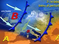 METEO / 7-14 Febbraio, TRENO di PERTURBAZIONI sull'Italia. Tanta neve sulle Alpi e Appennini