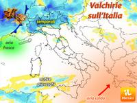 METEO ~ il Maltempo delle Valchirie IMPERVERSA al Nord
