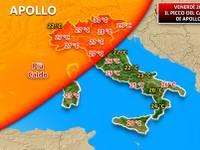 Meteo: OGGI il giorno più caldo di APOLLO, il PICCO fino a 30°C alle ore 16 [VIDEO]