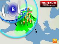 Meteo: Venerdì NERO, ma pure il WEEKEND sarà COMPROMESSO da Forte Pioggia e anche NEVE. Ecco Dove