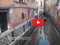 Meteo Cronaca DIRETTA VIDEO: VENEZIA, nuovo picco di ACQUA BASSA a -20. Le Immagini dei CANALI a SECCO