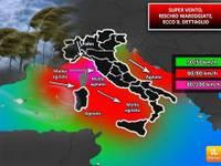 Meteo: Super vento sull'Italia, mareggiate, il dettaglio [VIDEO]